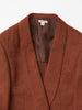 MASU SMOKING JACKET RED BROWN 3