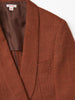 MASU SMOKING JACKET RED BROWN 4