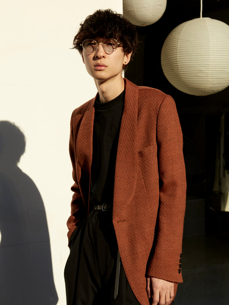 MASU SMOKING JACKET RED BROWN 13