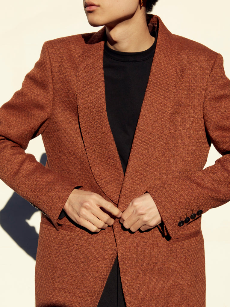 MASU SMOKING JACKET RED BROWN 16
