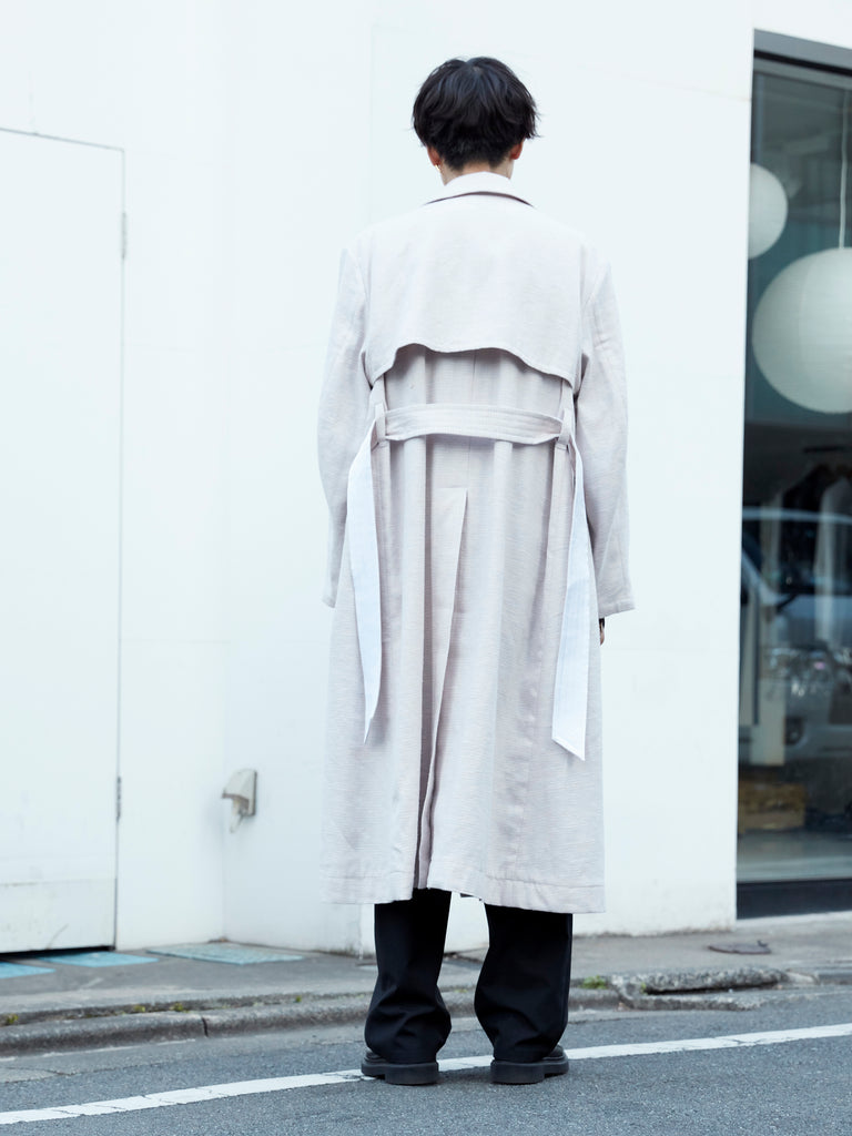 MASU OVER TRENCH COAT POWDER PINK 12