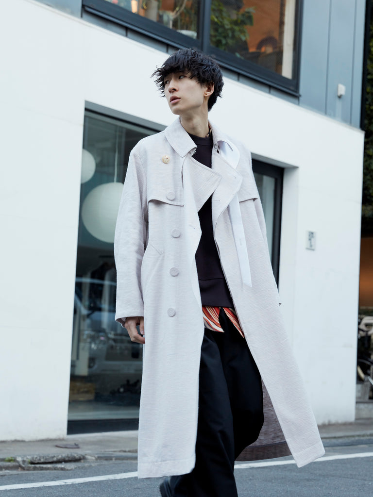 MASU OVER TRENCH COAT POWDER PINK 14