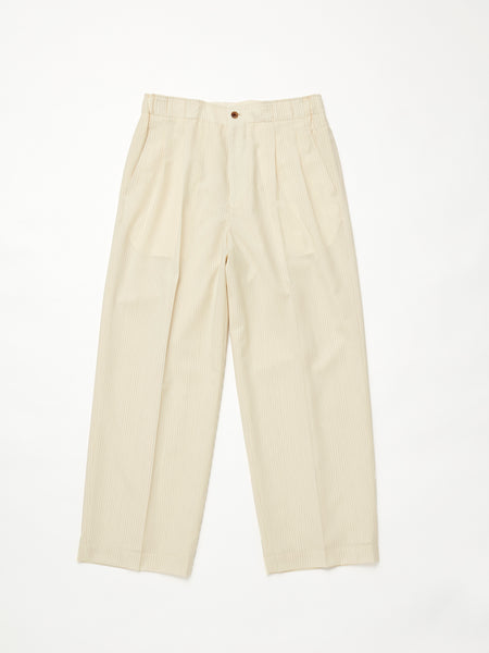 IRENISA TWO TUCKS WIDE PANTS IVORY 1
