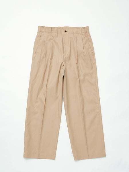 IRENISA TWO TUCKS WIDE PANTS BEIGE 1