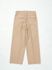 IRENISA TWO TUCKS WIDE PANTS BEIGE 2