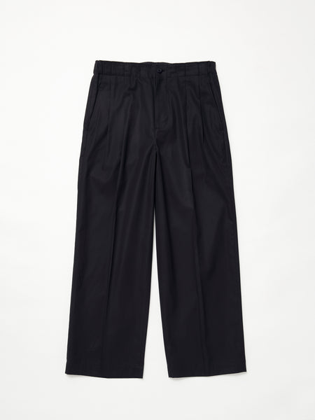 IRENISA TWO TUCKS WIDE PANTS BLACK 1