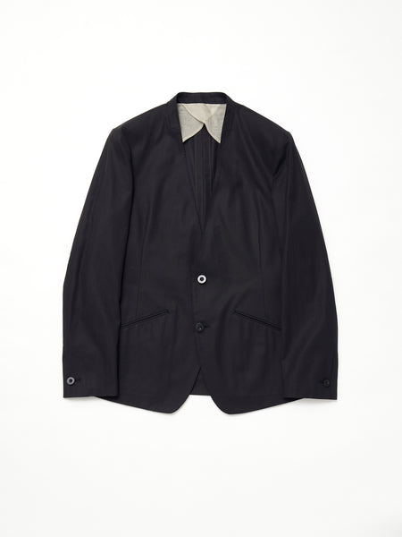 IRENISA NO COLLAR JACKET BLACK 1