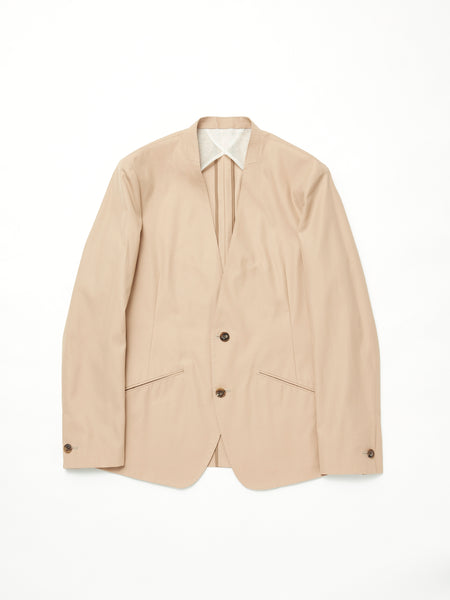 IRENISA NO COLLAR JACKET BEIGE 1
