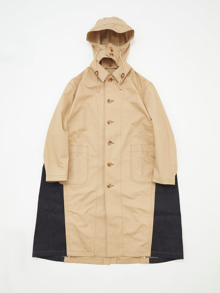 DOUBLE COLOR RAIN COAT BRN_1