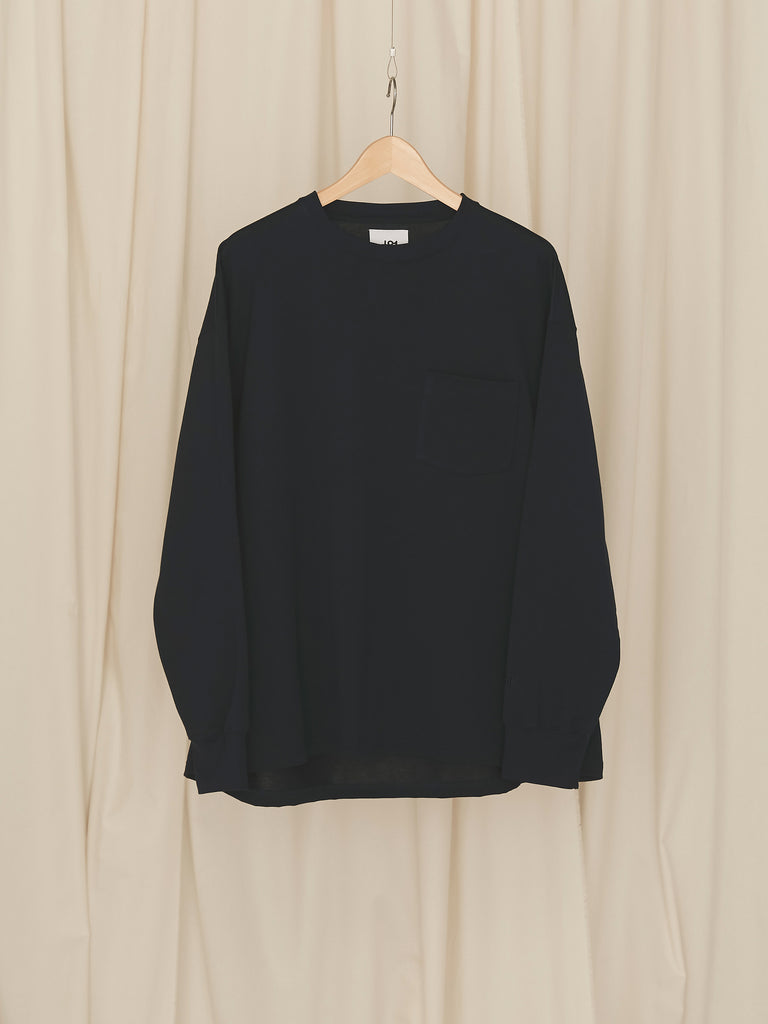 +81 OVERSIZED LONG SLEEVE TEE NVY 1