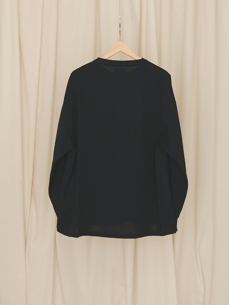 +81 OVERSIZED LONG SLEEVE TEE NVY 2