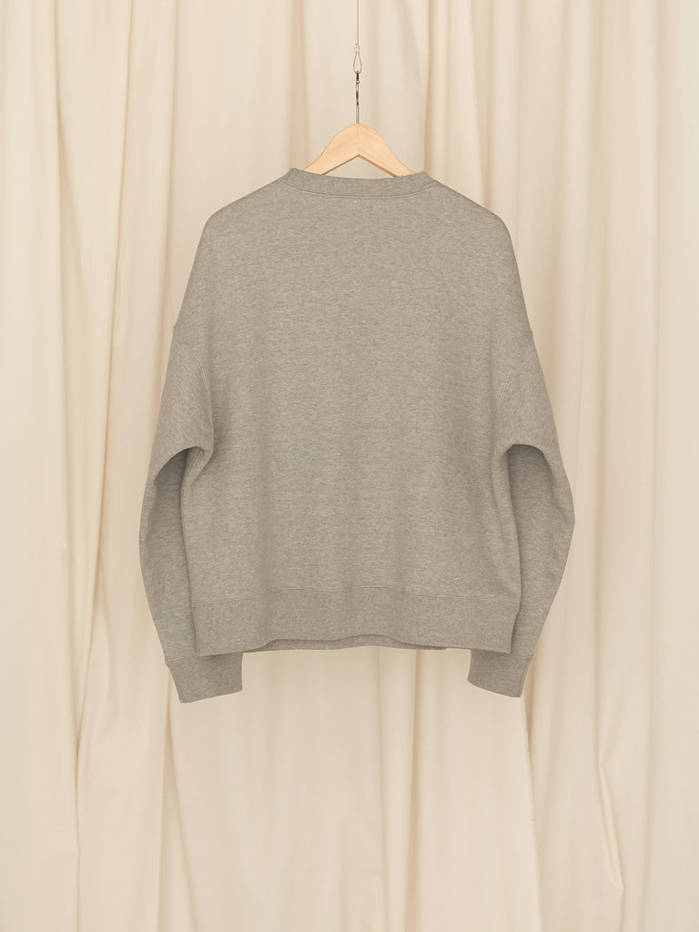 +81 OVERSIZED SWEAT SHIRT GRY 2