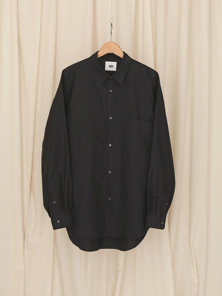 +81 OVERSIZED BASIC SHIRT NVY 1