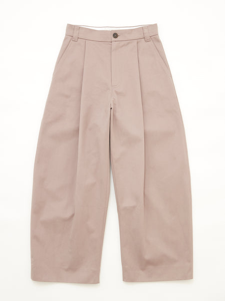PEACHED COTTON TWILL VOLUME PLEAT PANT CLY 1