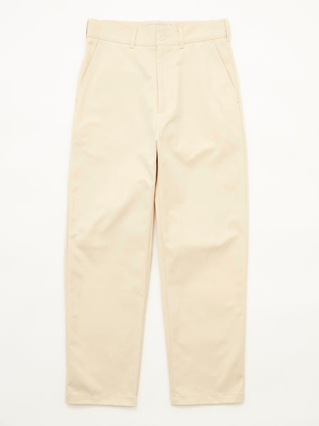 PEACHED COTTON TWILL FLAT FRONT TAPERED PANT CRM 1