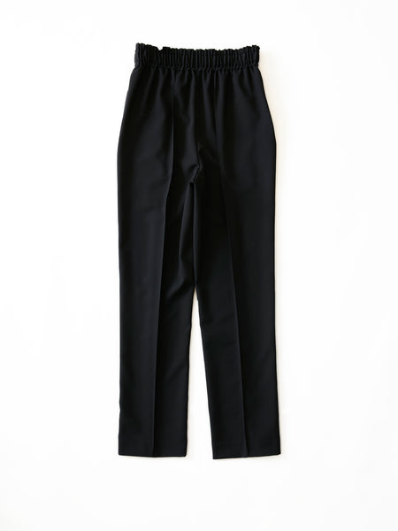 POSTELEGANT WOOL EASY TROUSERS BLK 1