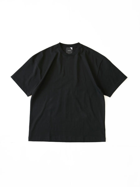 ATON SUVIN AIR SPINNING OVERSIZED T-SHIRT BLK 1