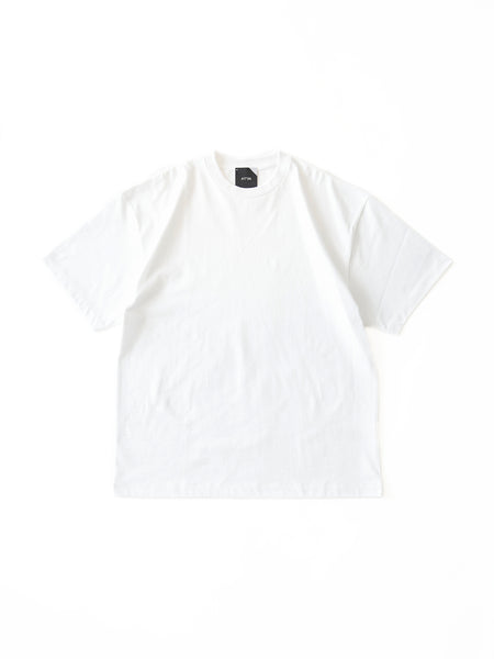 ATON SUVIN AIR SPINNING OVERSIZED T-SHIRT WHT 1