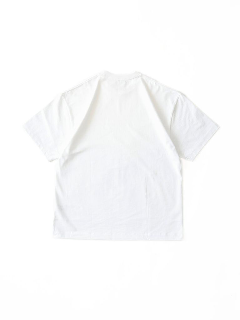ATON SUVIN AIR SPINNING OVERSIZED T-SHIRT WHT 2