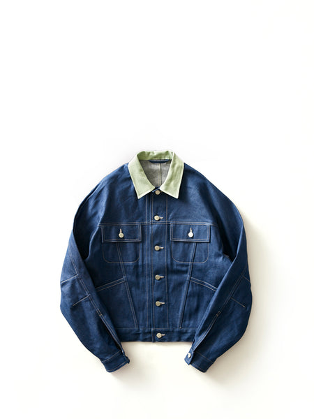 E.TAUTZ DENIM JACKET APPLE GREEN 1