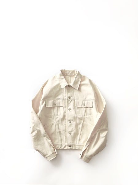 E.TAUTZ DENIM JACKET ECRU 1