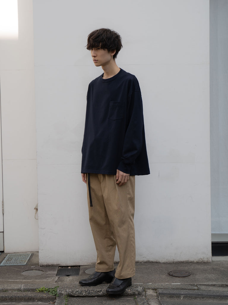 +81 OVERSIZED LONG SLEEVE TEE NVY 7