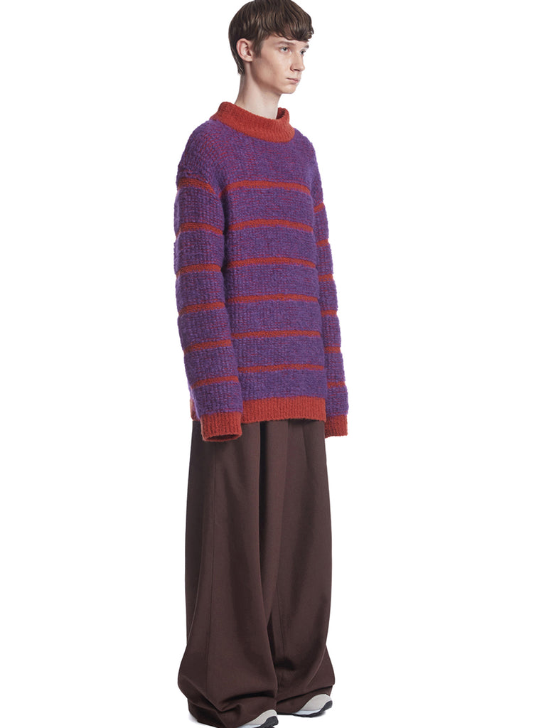 TRUNKPROJECT BOUCLE STRIPE KNIT SWEATER ORANGE 3