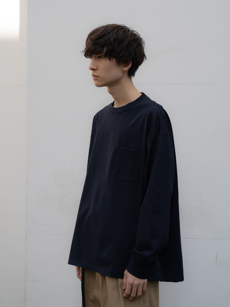 +81 OVERSIZED LONG SLEEVE TEE NVY 5