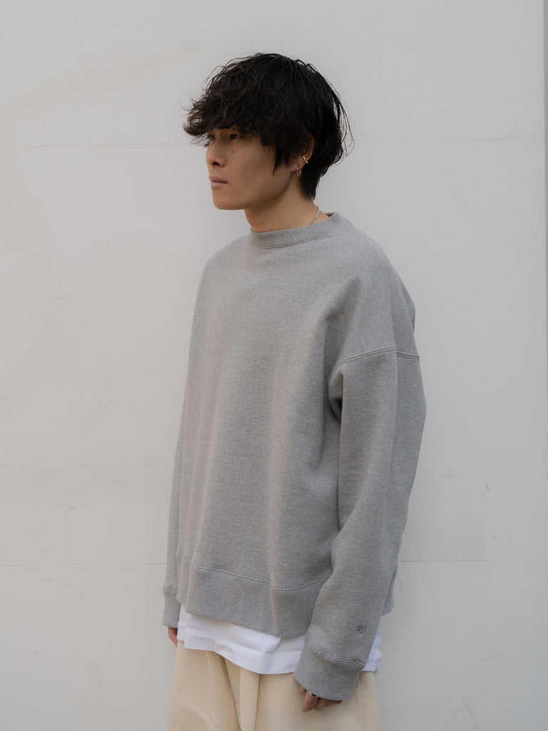 +81 OVERSIZED SWEAT SHIRT GRY 7