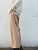 IRENISA TWO TUCKS WIDE PANTS BEIGE 12