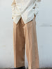 IRENISA TWO TUCKS WIDE PANTS BEIGE 14