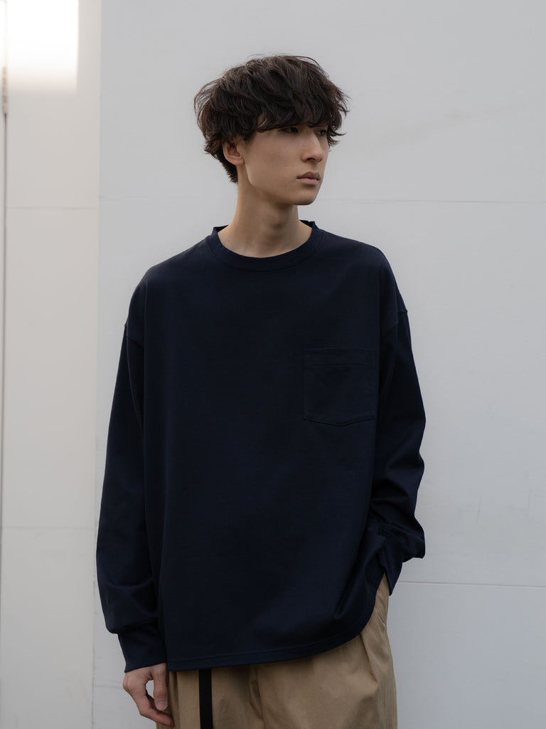 +81 OVERSIZED LONG SLEEVE TEE NVY 4