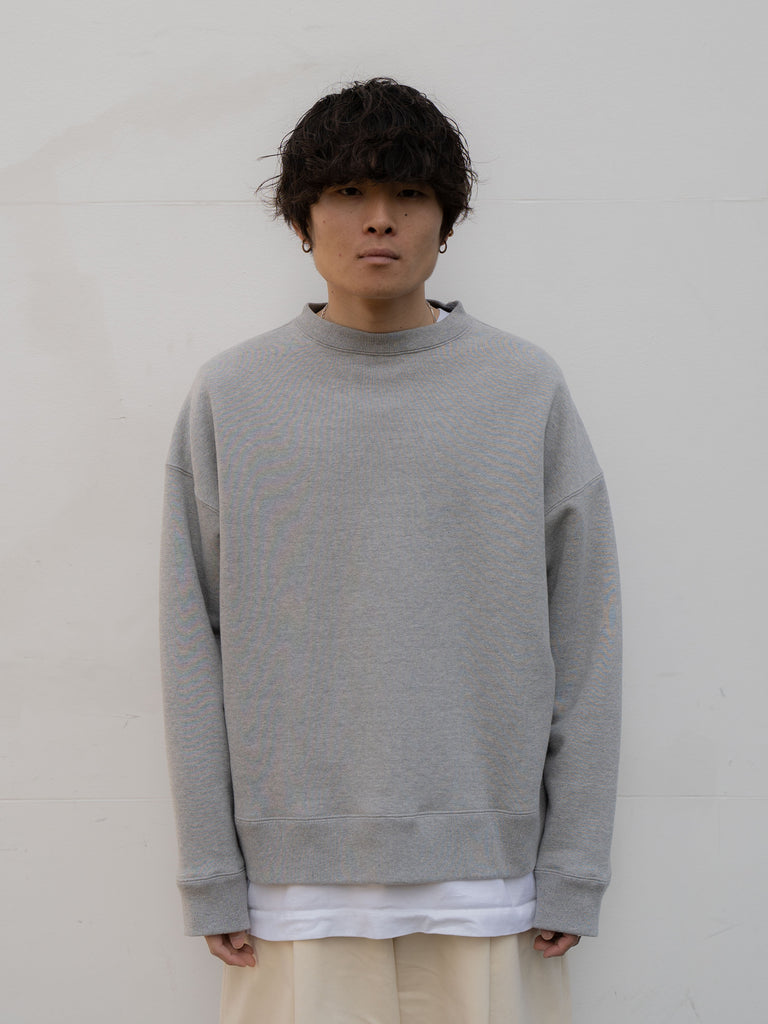 +81 OVERSIZED SWEAT SHIRT GRY 3