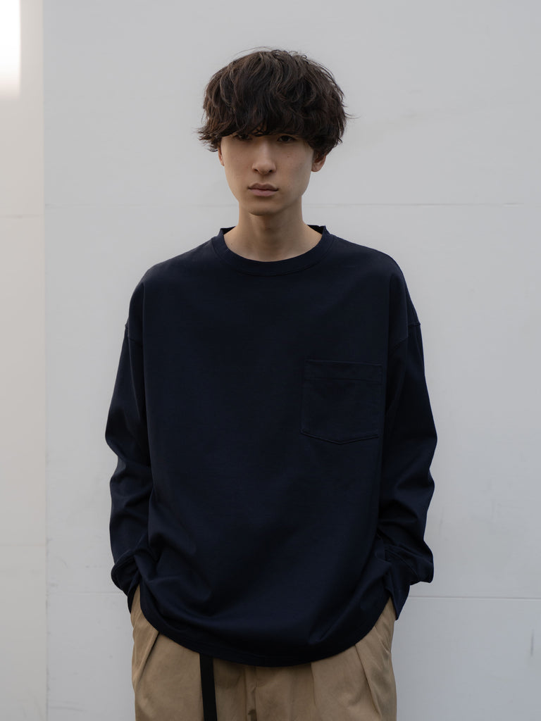 +81 OVERSIZED LONG SLEEVE TEE NVY 3