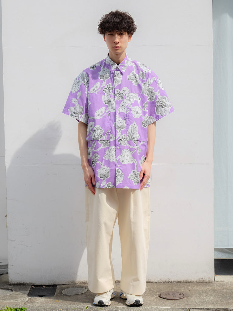 E.TAUTZ SHORT SLEEVE LINEMAN SHIRT LILAC 4