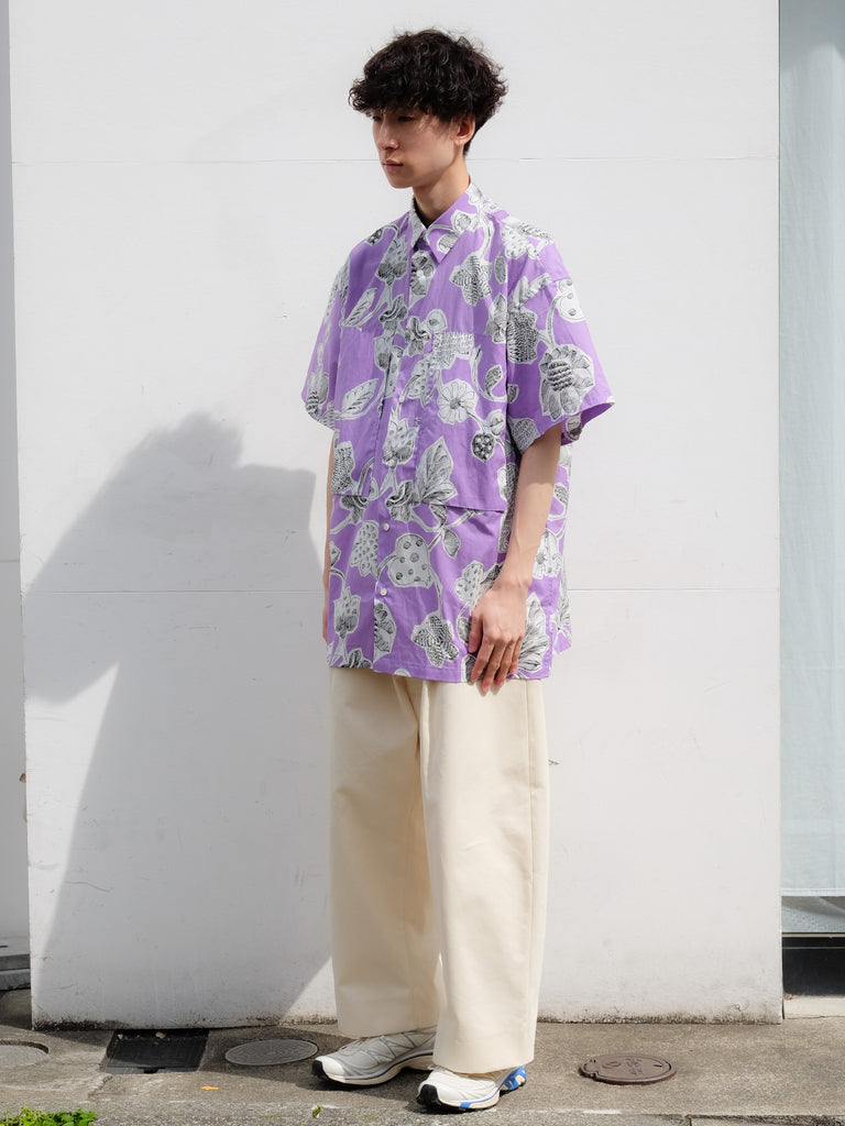 E.TAUTZ SHORT SLEEVE LINEMAN SHIRT LILAC 5