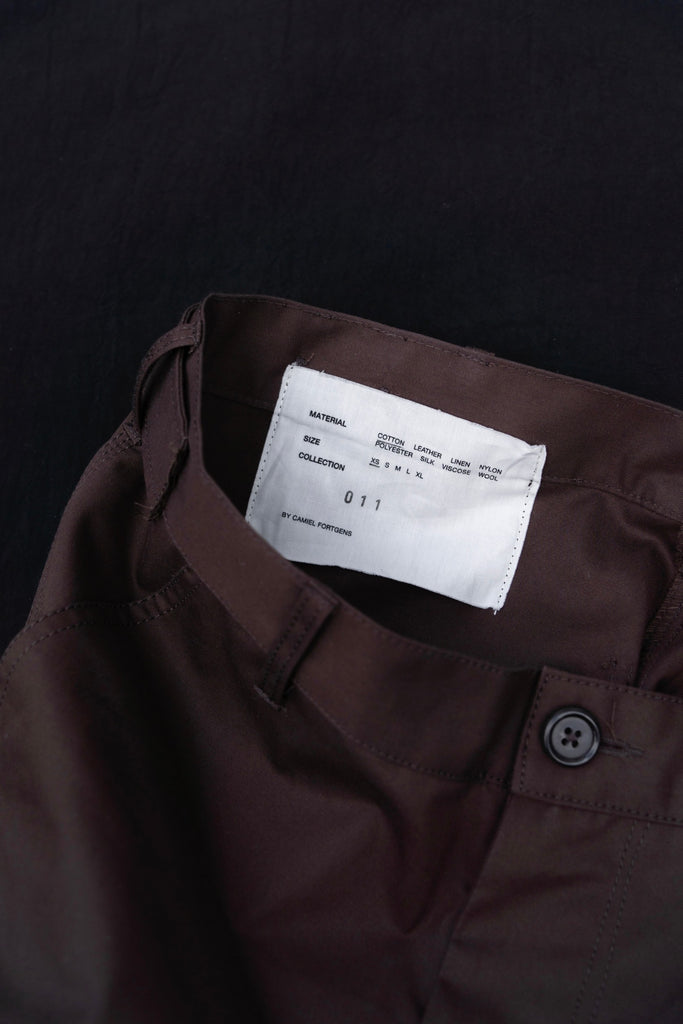 CAMIEL FORTGENS WORKER PANTS BROWN 5