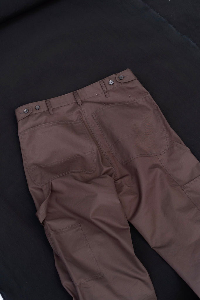 CAMIEL FORTGENS WORKER PANTS BROWN 6