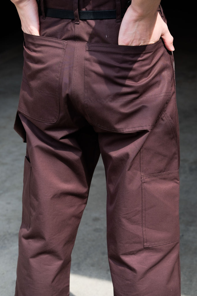 CAMIEL FORTGENS WORKER PANTS BROWN 4