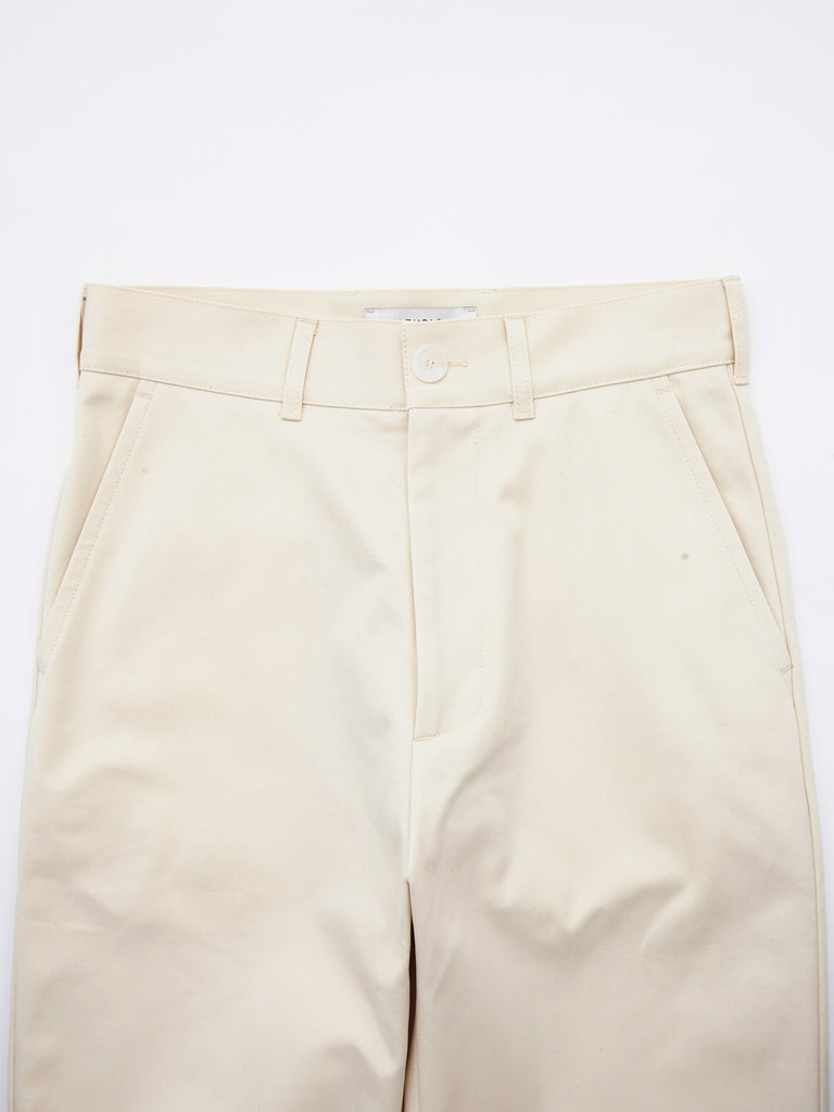 PEACHED COTTON TWILL FLAT FRONT TAPERED PANT CRM 3