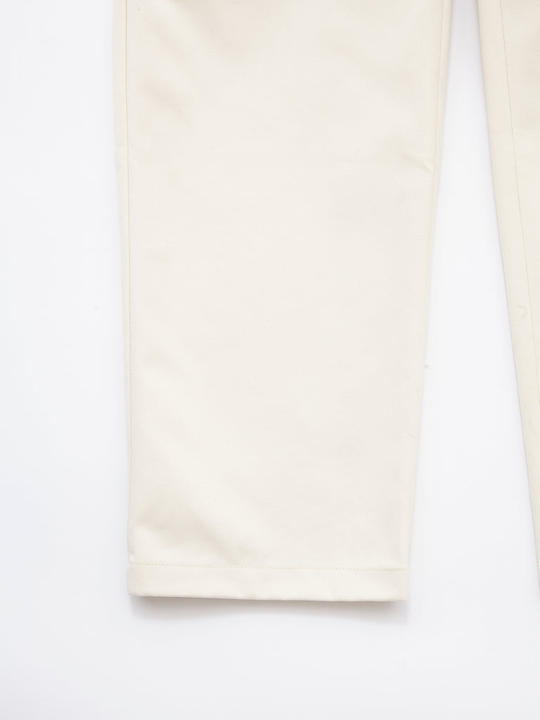 PEACHED COTTON TWILL FLAT FRONT TAPERED PANT CRM 5