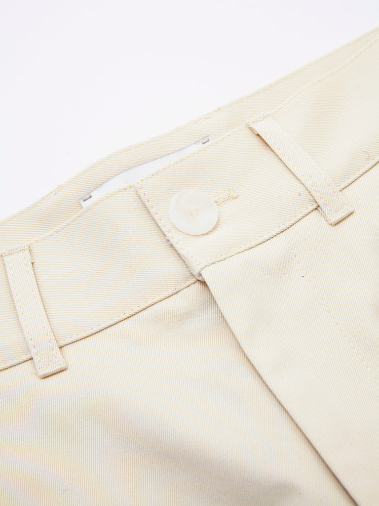 PEACHED COTTON TWILL FLAT FRONT TAPERED PANT CRM 7