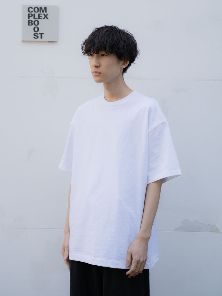 ATON SUVIN AIR SPINNING OVERSIZED T-SHIRT WHT 8
