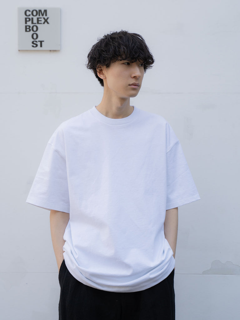 ATON SUVIN AIR SPINNING OVERSIZED T-SHIRT WHT 7