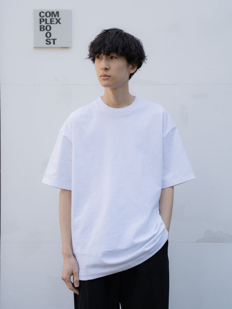 ATON SUVIN AIR SPINNING OVERSIZED T-SHIRT WHT 6