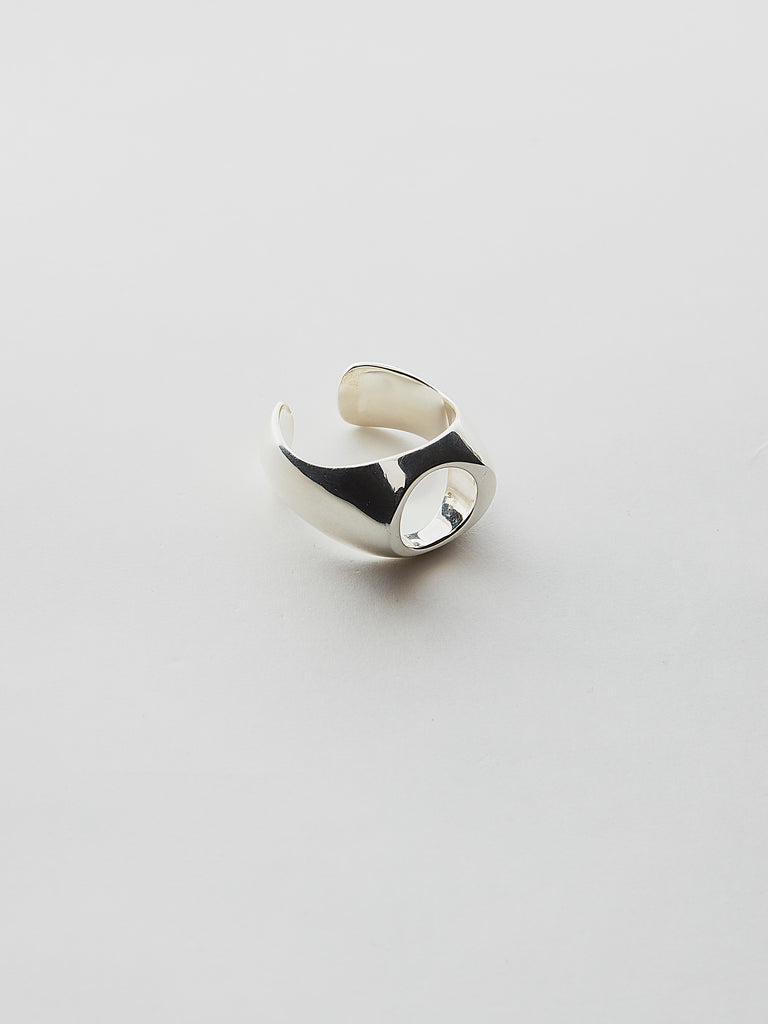 WEISS NUANCE OVAL RING SILVER 1