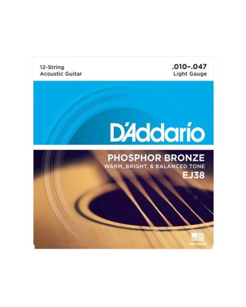 D'Addario EJ38 Phospor Bronze 12 Strings Acoustic Guitar Strings