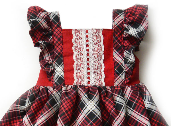 Plaid Ruffle Dress