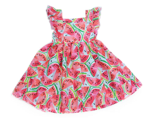One in a Melon Ruffle Dress