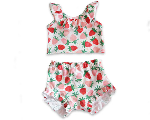 Strawberry Crop Top & Ruffle Bloomers